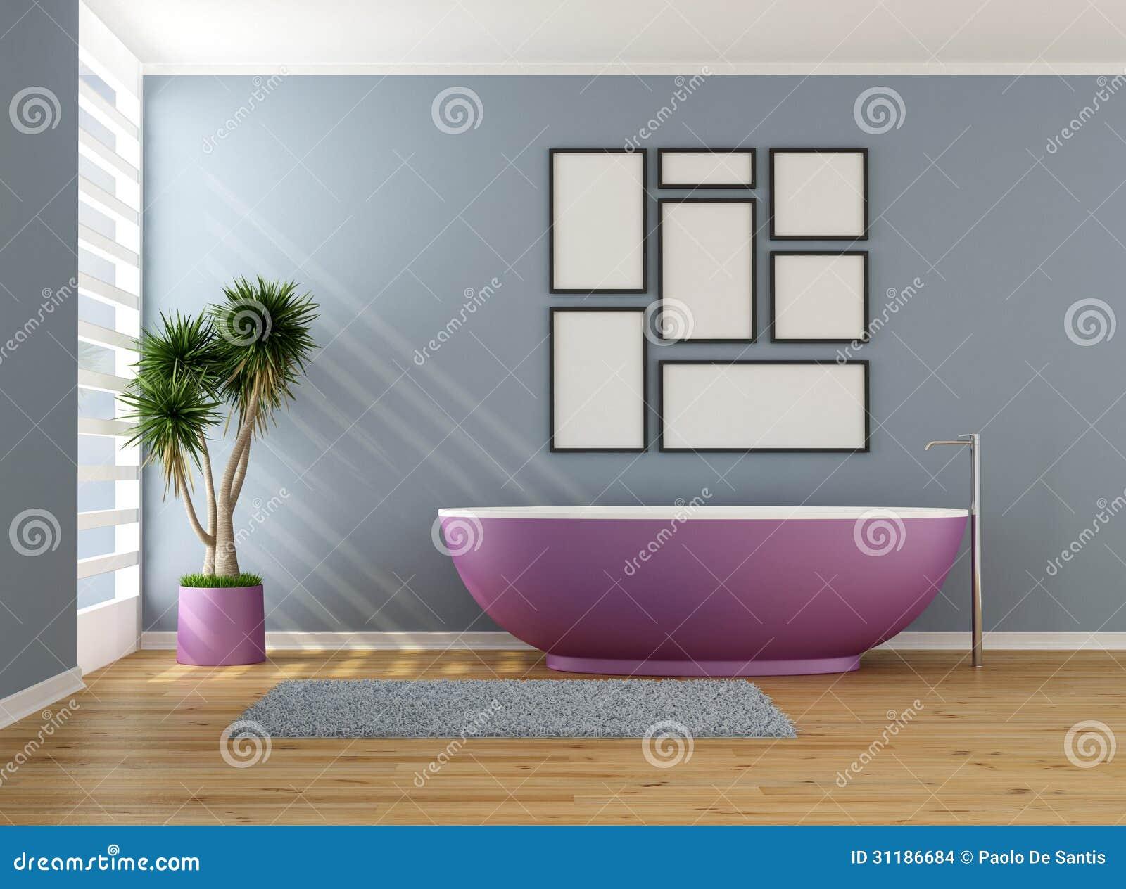 Banheiro Azul Com Banheira Roxa Imagens de Stock Imagem: 31186684 #876B44 1300x1044 Banheiro Com Banheira Verde