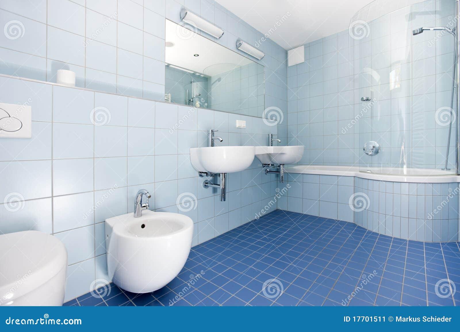 Banheiro Azul Moderno Imagem de Stock  Imagem 17701511 -> Banheiros Modernos Azul