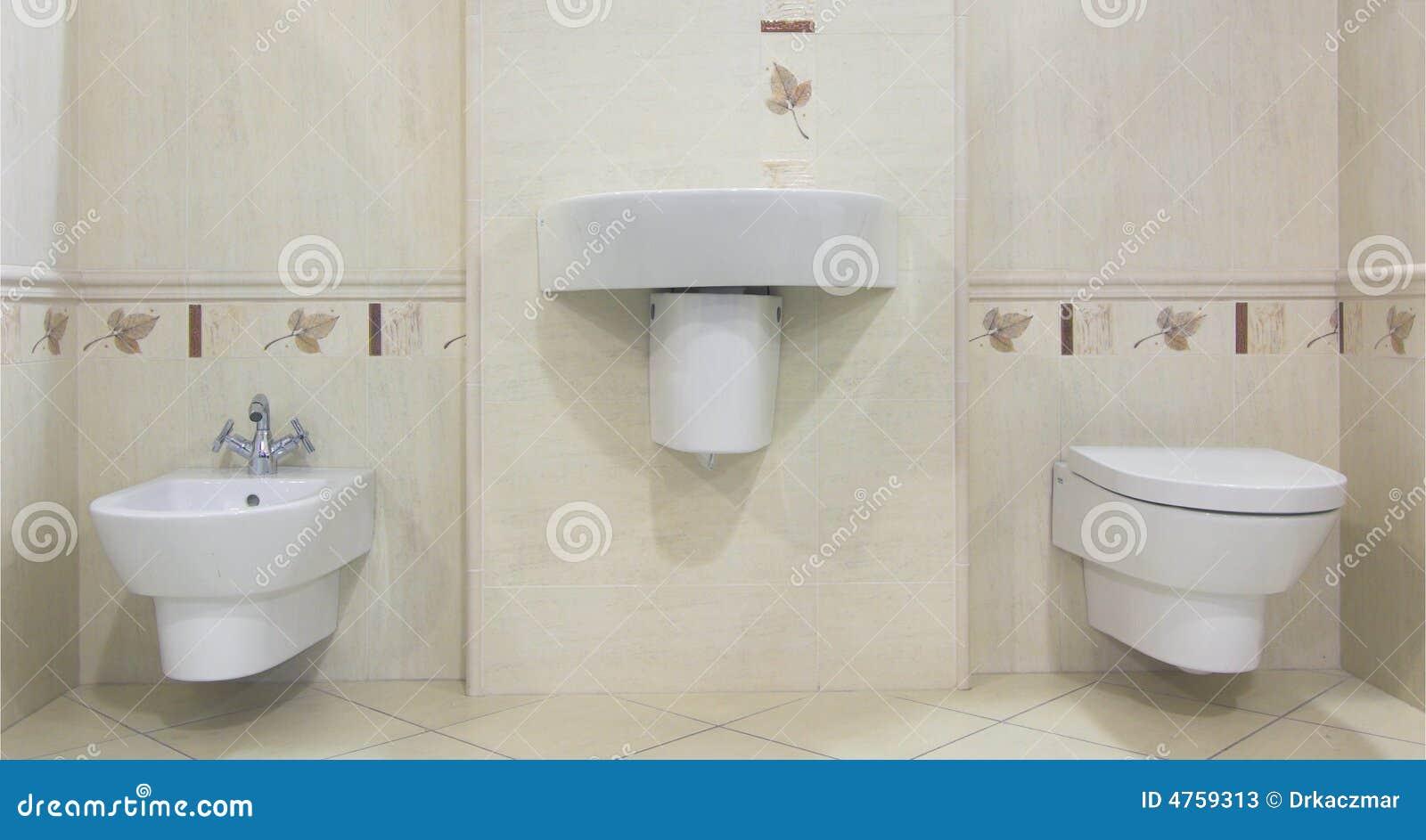 Imagens de #84A922 Banheiro bege moderno com dissipador toilette e bidet. 1300x783 px 3638 Banheiros Simples Na Cor Bege