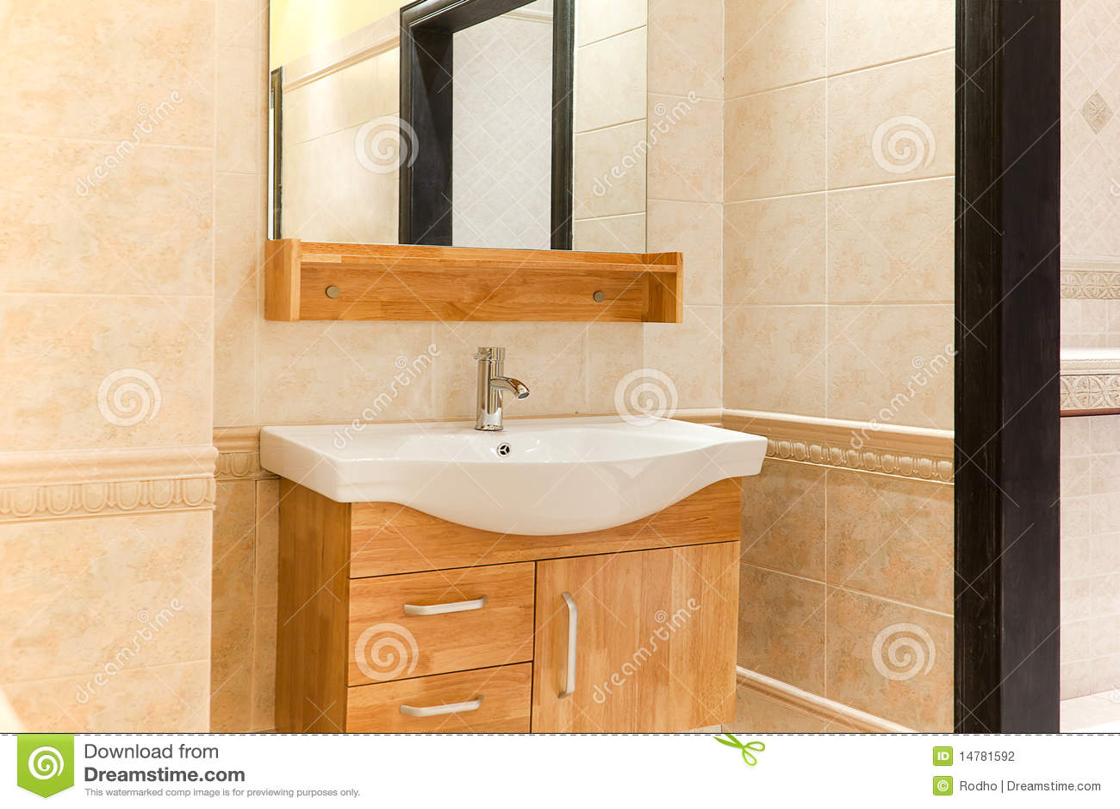 Dissipador e contador bonitos do banheiro. #824E16 1300x957 Banheiro Bonito E Pequeno