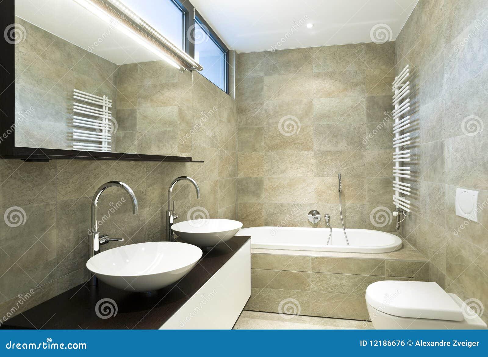 Banheiro Bonito Interior Imagem de Stock Royalty Free Imagem  #82A229 1300x968 Banheiro Bonito