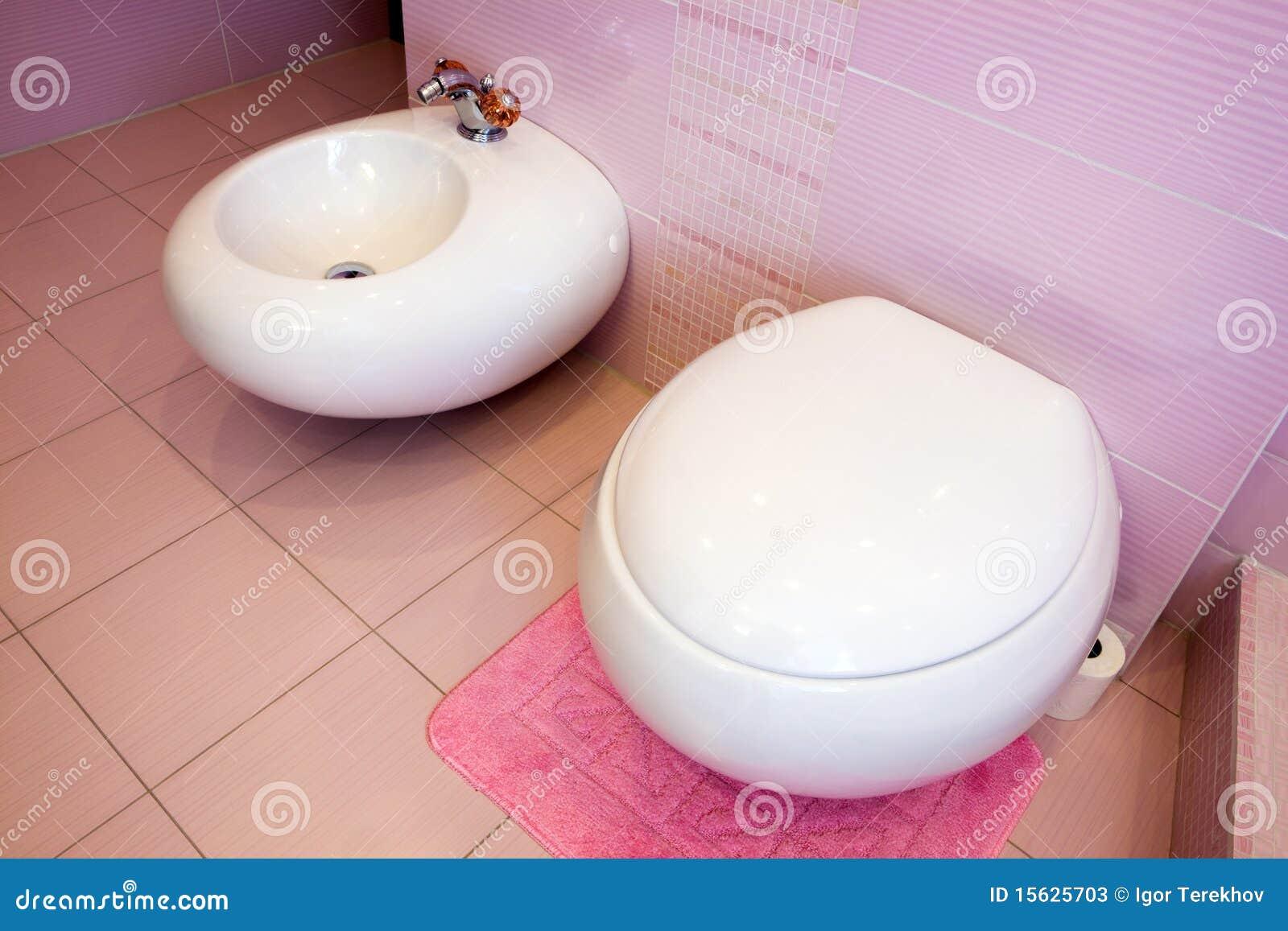 Banheiro Cor de rosa Bonito Fotos de Stock Imagem: 15625703 #973456 1300x957 Banheiro Bonito