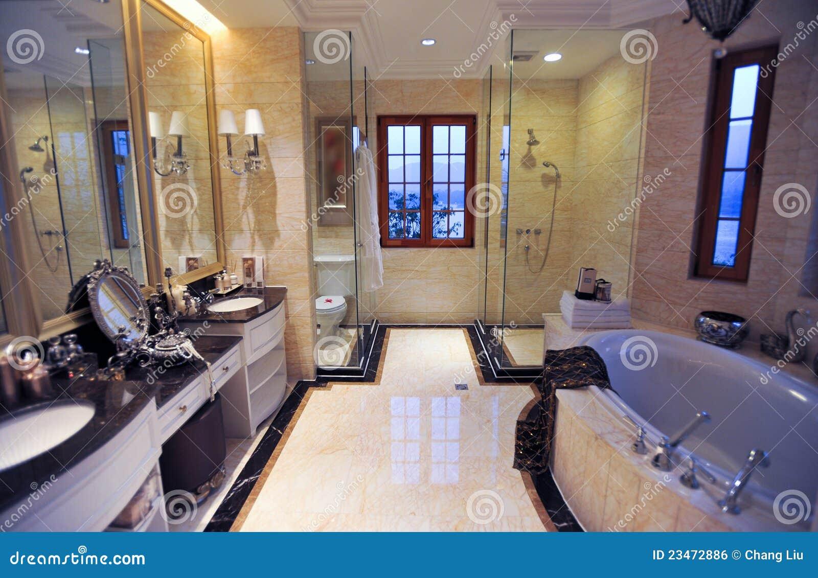 Banheiro De Mármore Amarelo Imagem de Stock Royalty Free Imagem  #8B7040 1300 936