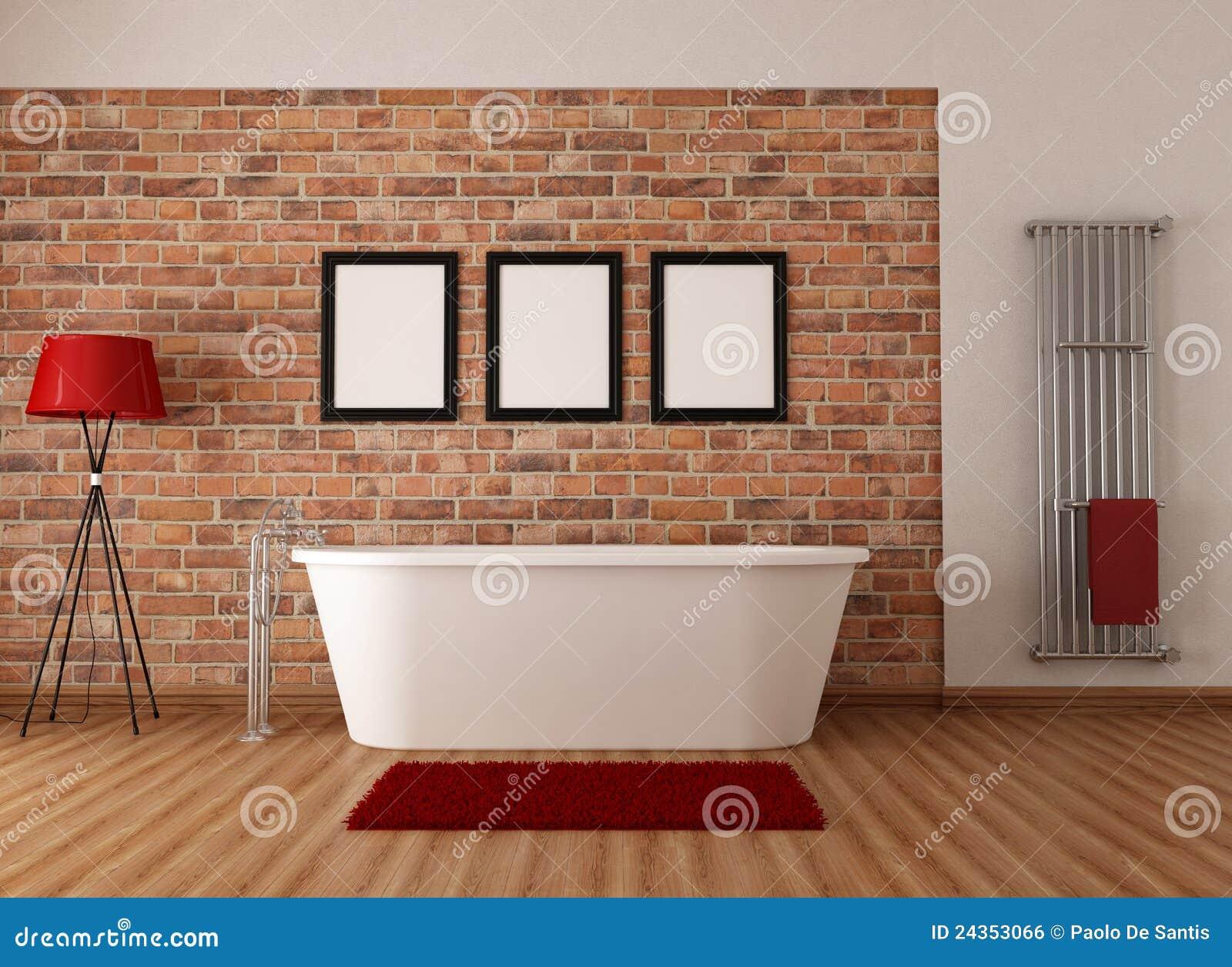 Banheiro Do Vintage Imagem de Stock Royalty Free Imagem: 24353066 #B11C1A 1300x1037 Banheiro Com Banheira Retro