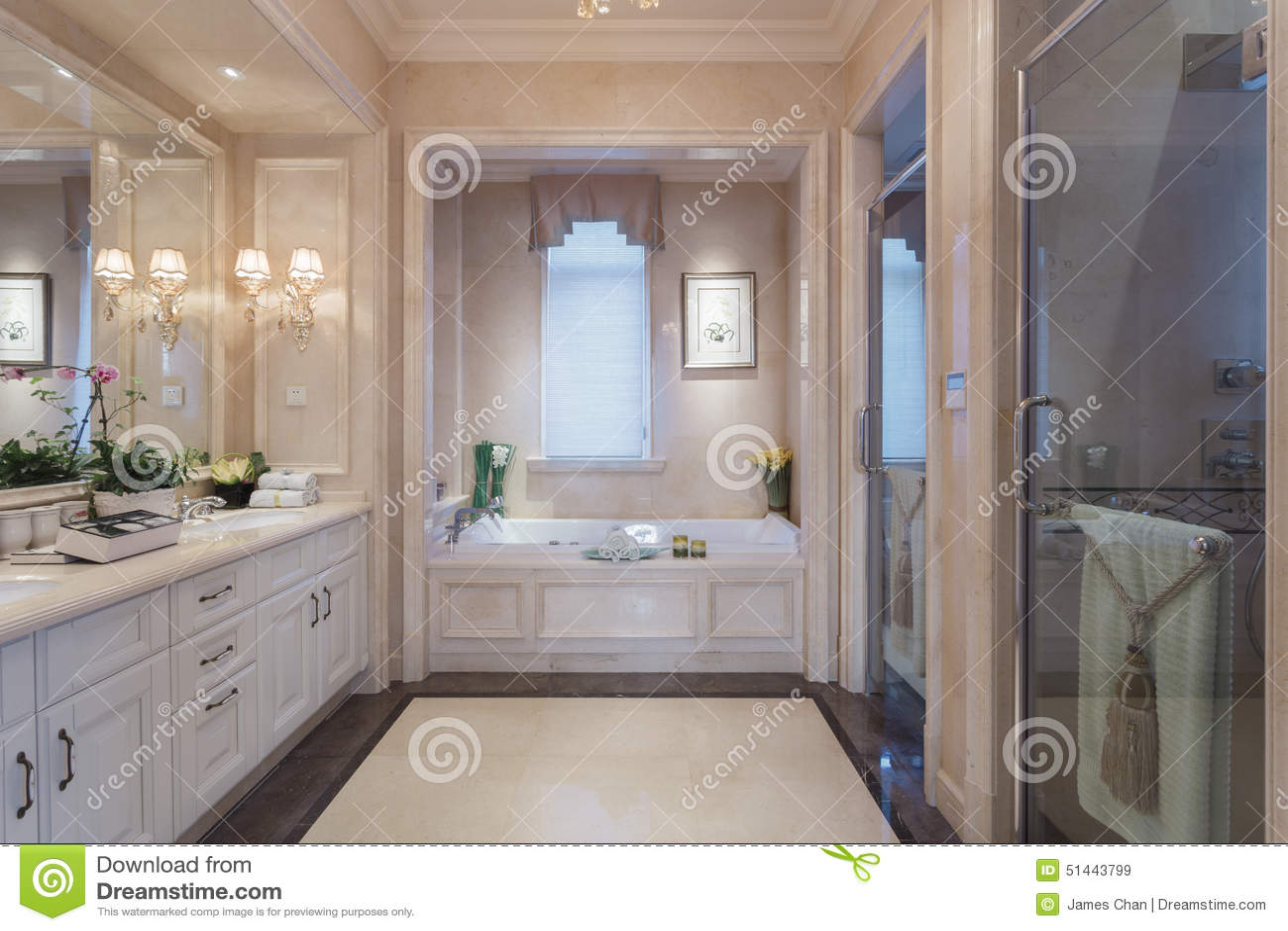 Banheiro Grande Foto de Stock Imagem: 51443799 #3A6691 1300 957