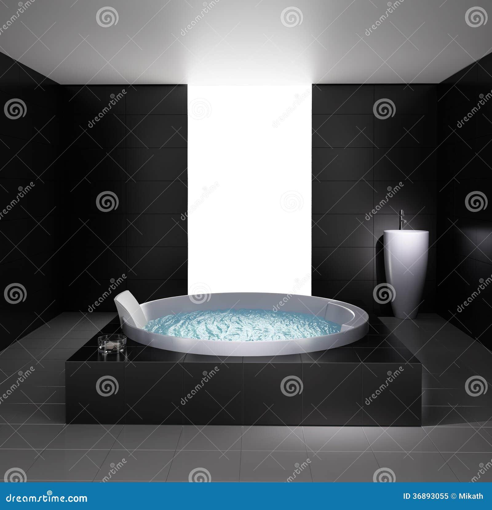 Banheiro Mínimo Com Banheira Do Jacuzzi Foto de Stock Royalty Free  #83A427 1300 1364