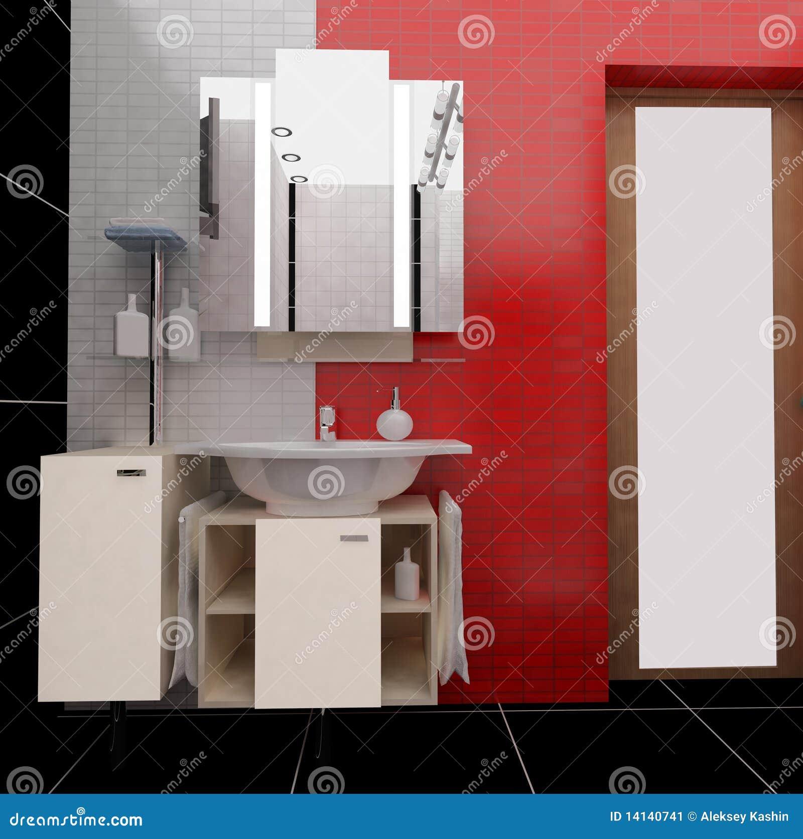 Banheiro Moderno Imagem de Stock  Imagem 14140741 -> Banheiro Moderno Com