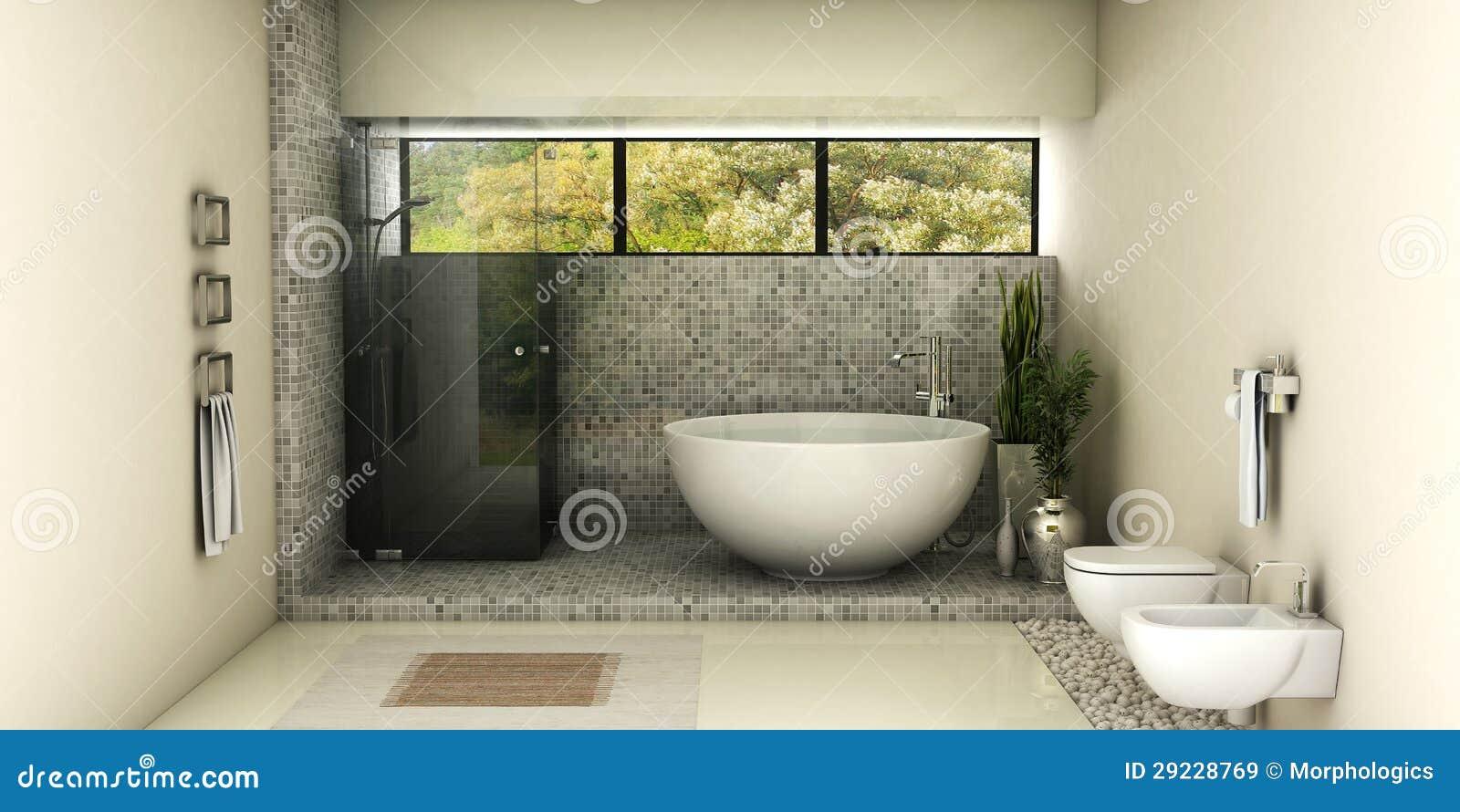 Download Banheiro moderno ilustração stock. Ilustração de render - 29228769
