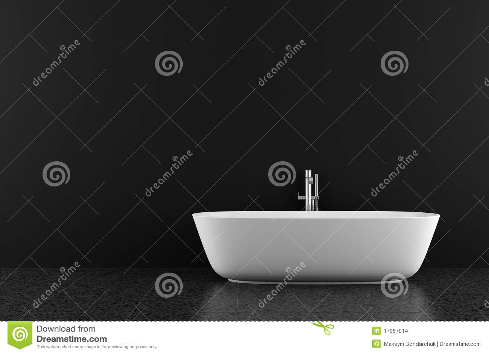 Banheiro moderno com assoalho e a parede pretos. #86AA21 1300 957