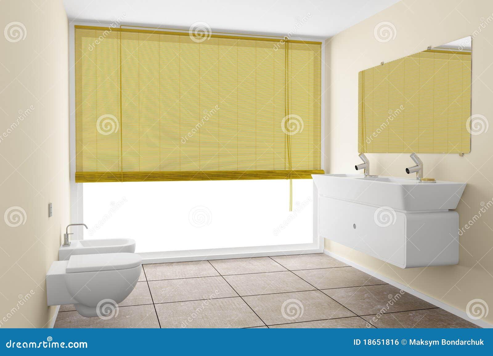 Banheiro Moderno Com Paredes Bege Imagem de Stock Royalty Free  Imagem 1865 -> Banheiro Moderno Com