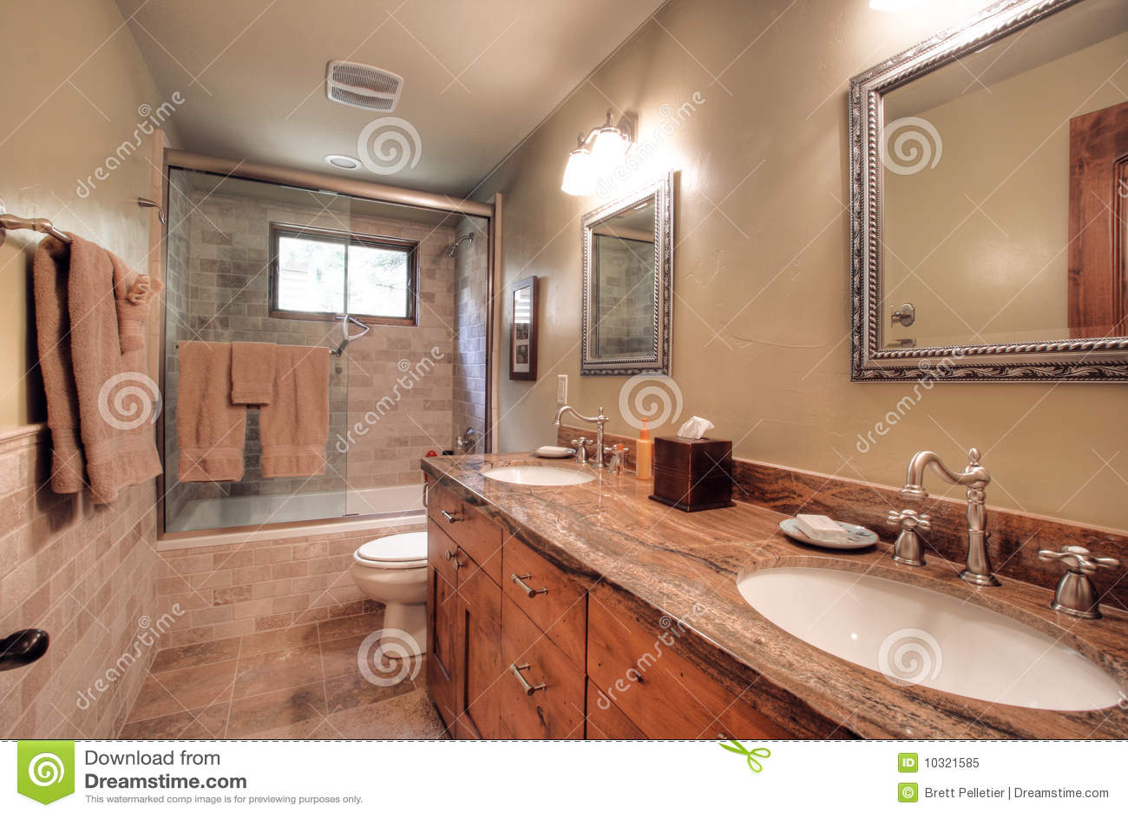 Banheiro Moderno Luxuoso Foto de Stock Royalty Free  Imagem 10321585 -> Banheiro Vintage Moderno