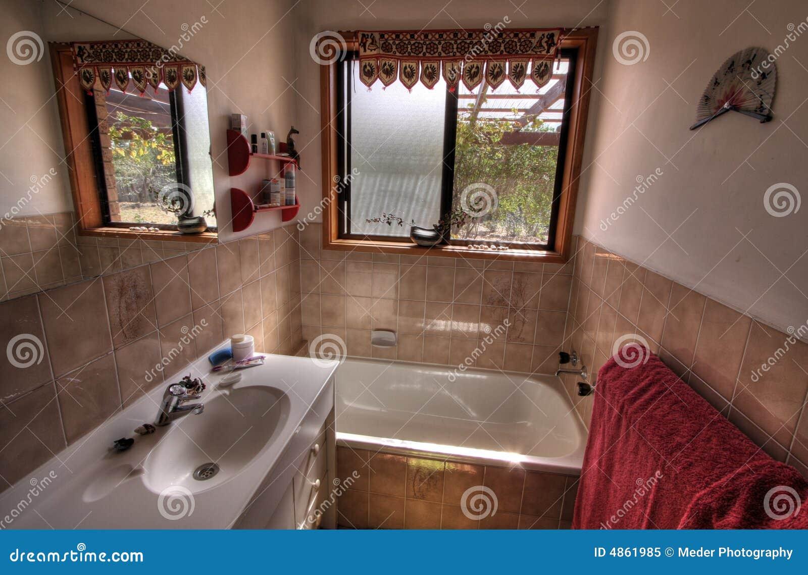 Banheiro Moderno Pequeno Foto de Stock Royalty Free  Imagem 4861985 -> Banheiro Moderno Com