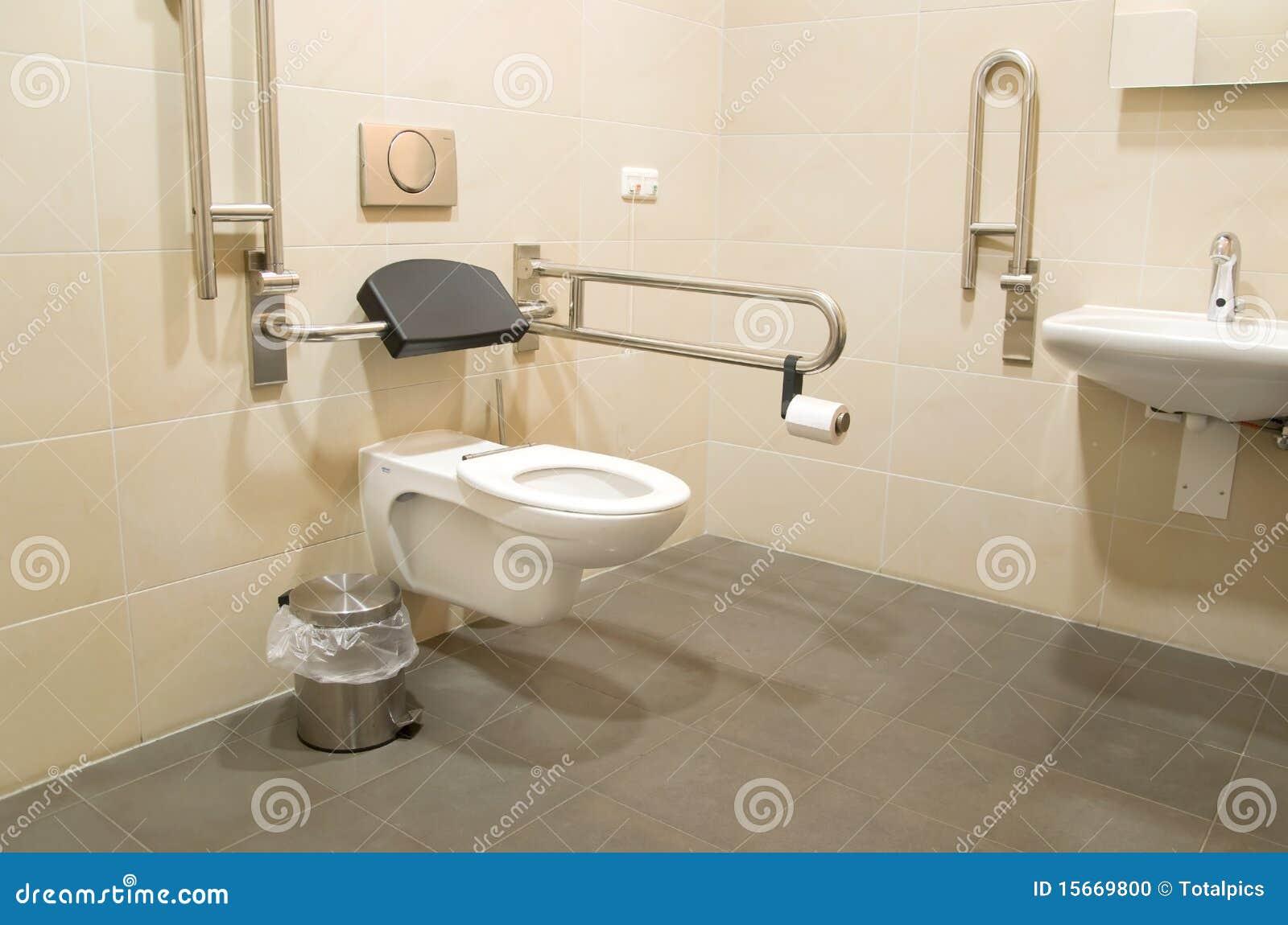 Banheiro Para Deficientes Motores Foto de Stock Imagem: 15669800 #84A922 1300 951