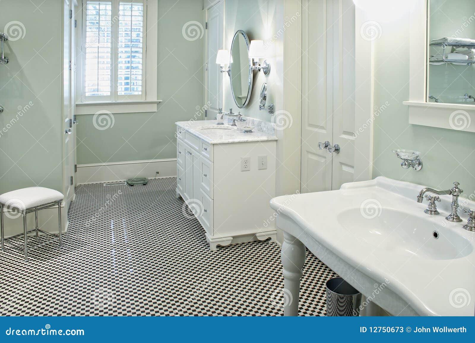 Banheiro Preto E Branco Fotos de Stock Imagem: 12750673 #82A328 1300x957 Banheiro Branco Com Vaso Preto