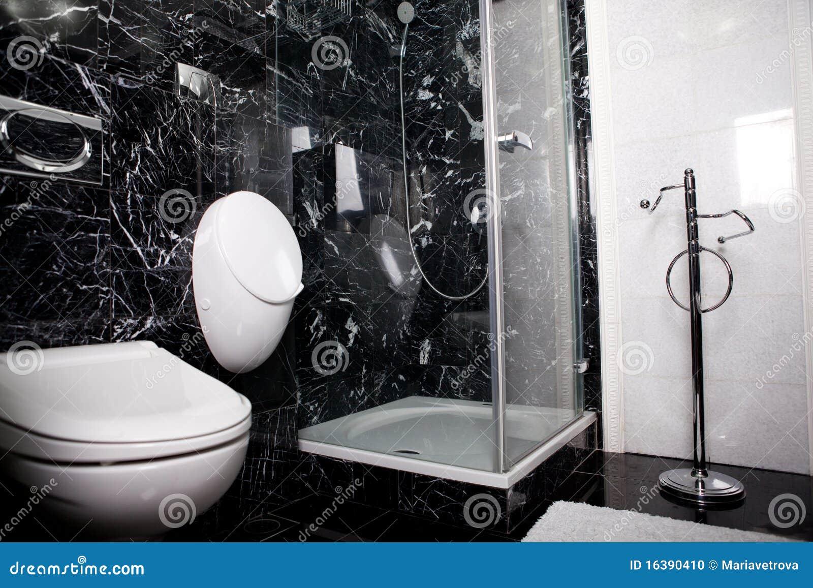 Banheiro Preto E Branco Foto de Stock Imagem: 16390410 #82A328 1300 957