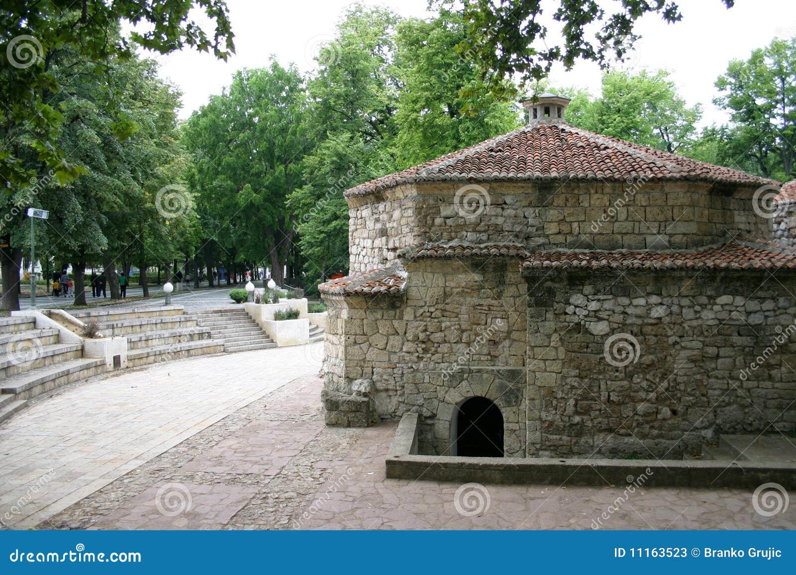 Banheiro turco muito velho em termas do soko Serbia. #456538 1300 957