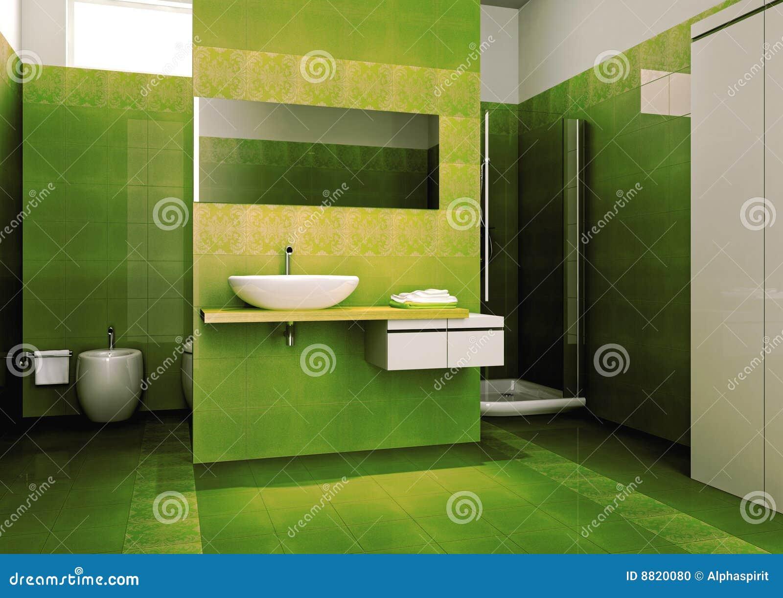 Banheiro Verde Foto de Stock  Imagem 8820080 -> Banheiro Moderno Verde
