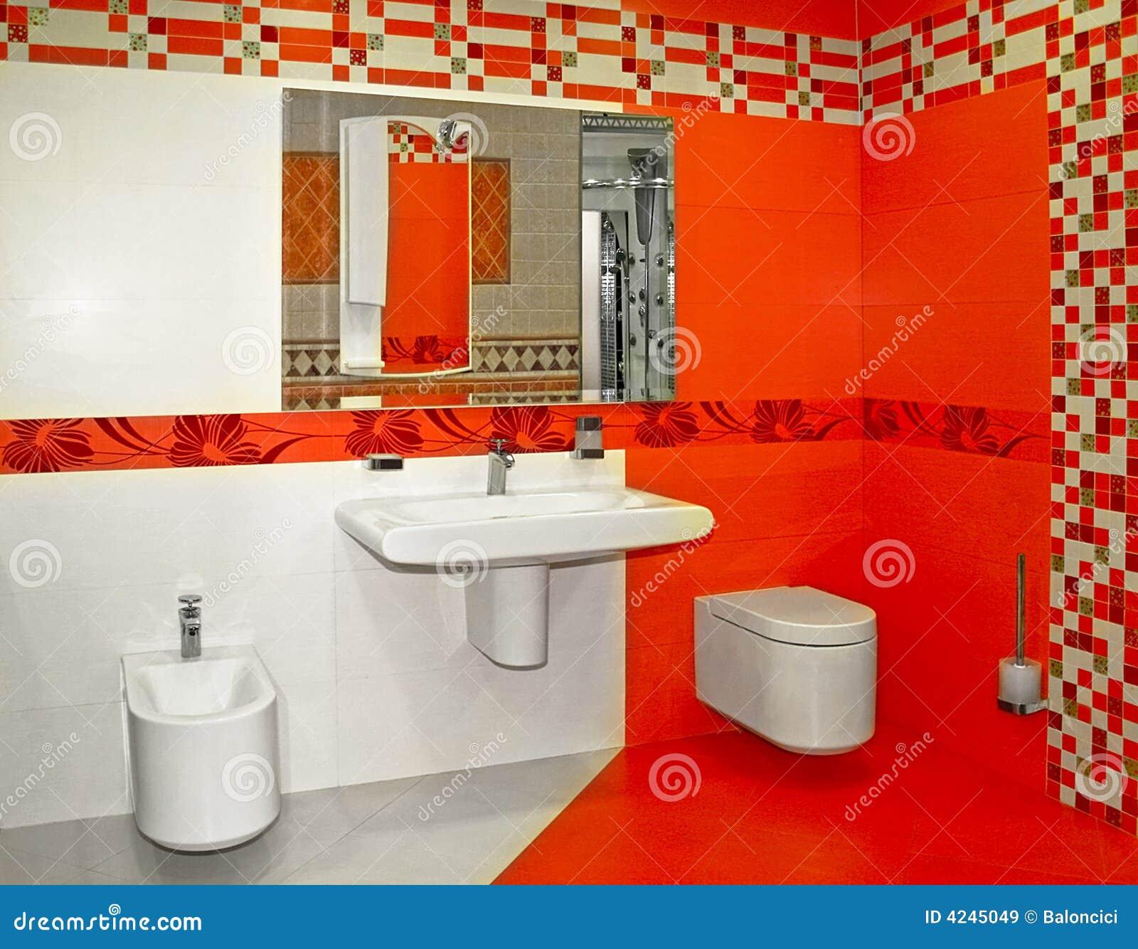 Imagens de Stock Royalty Free: Banheiro vermelho #C61F05 1300 1100