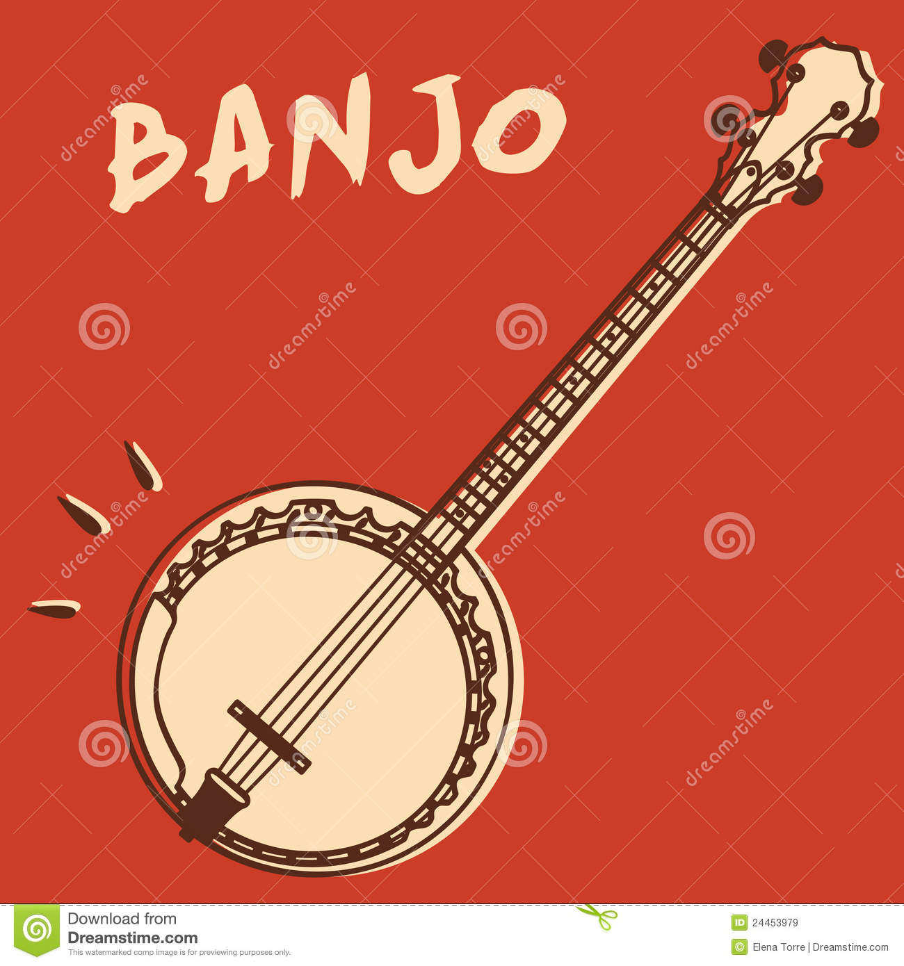 Banjo Vector Stock Vector Image Of Concert Music Acoustic 24453979