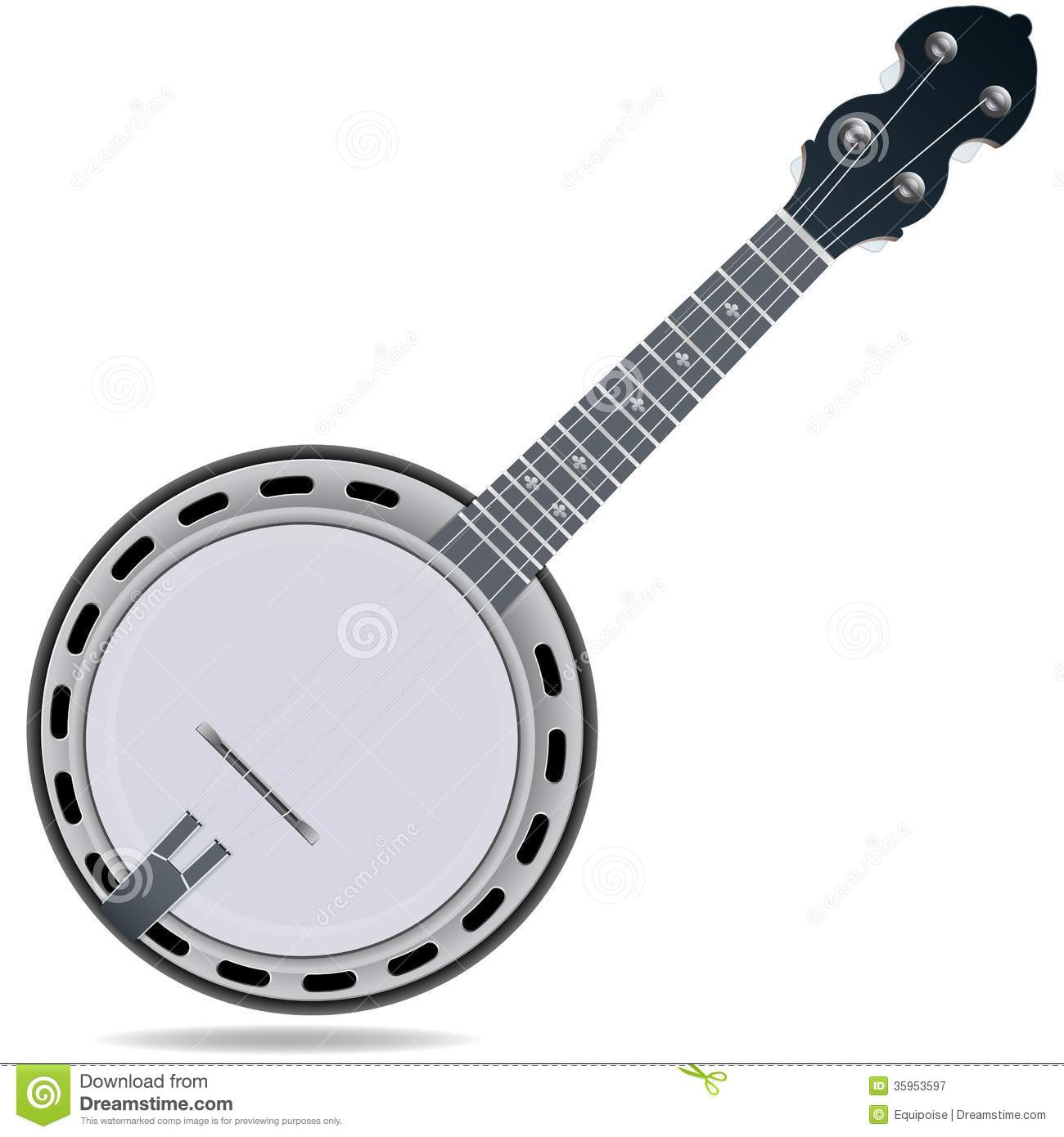 Banjo Fiddle Instrument Stock Vector Image Of Melody