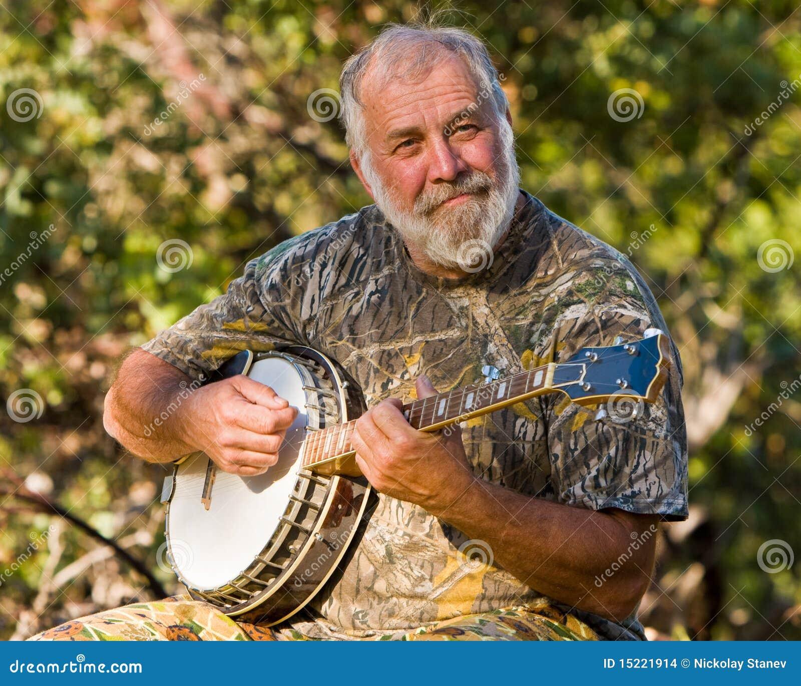 Banjo Player Stock Photo Image Of Brown Hick Play
