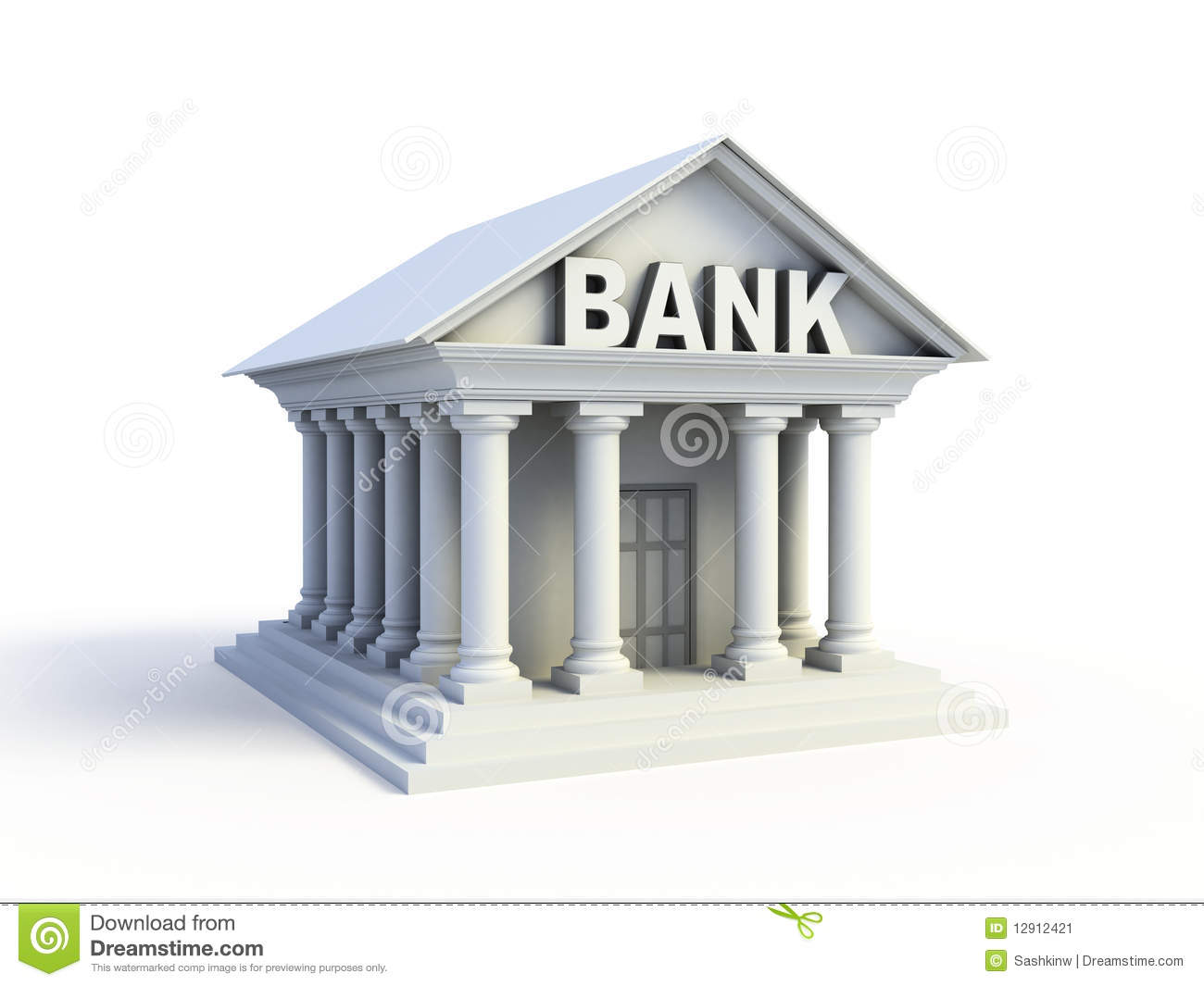 Bank 3d Icon Stock Image - Image: 12912421