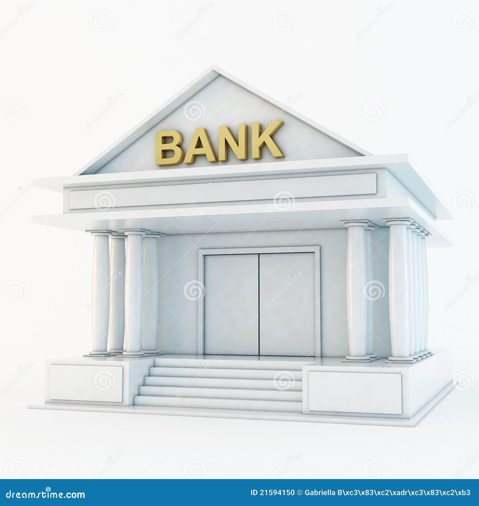 Bank 3d icon stock illustration. Illustration of headquarter - 21594150