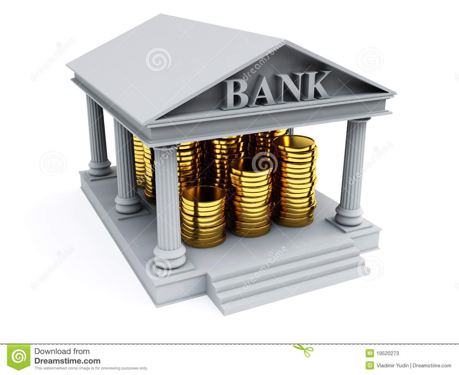 Bank 3d render stock photos image 19520273 - Bank cm ...