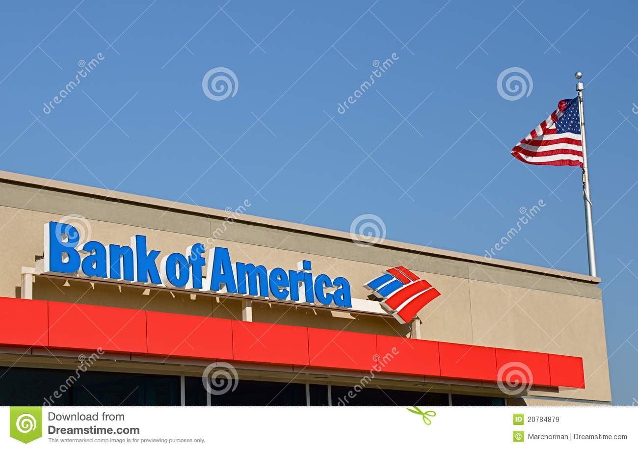 Bank of America sign editorial stock image. Image of financial ... Bank Of America Sign In on