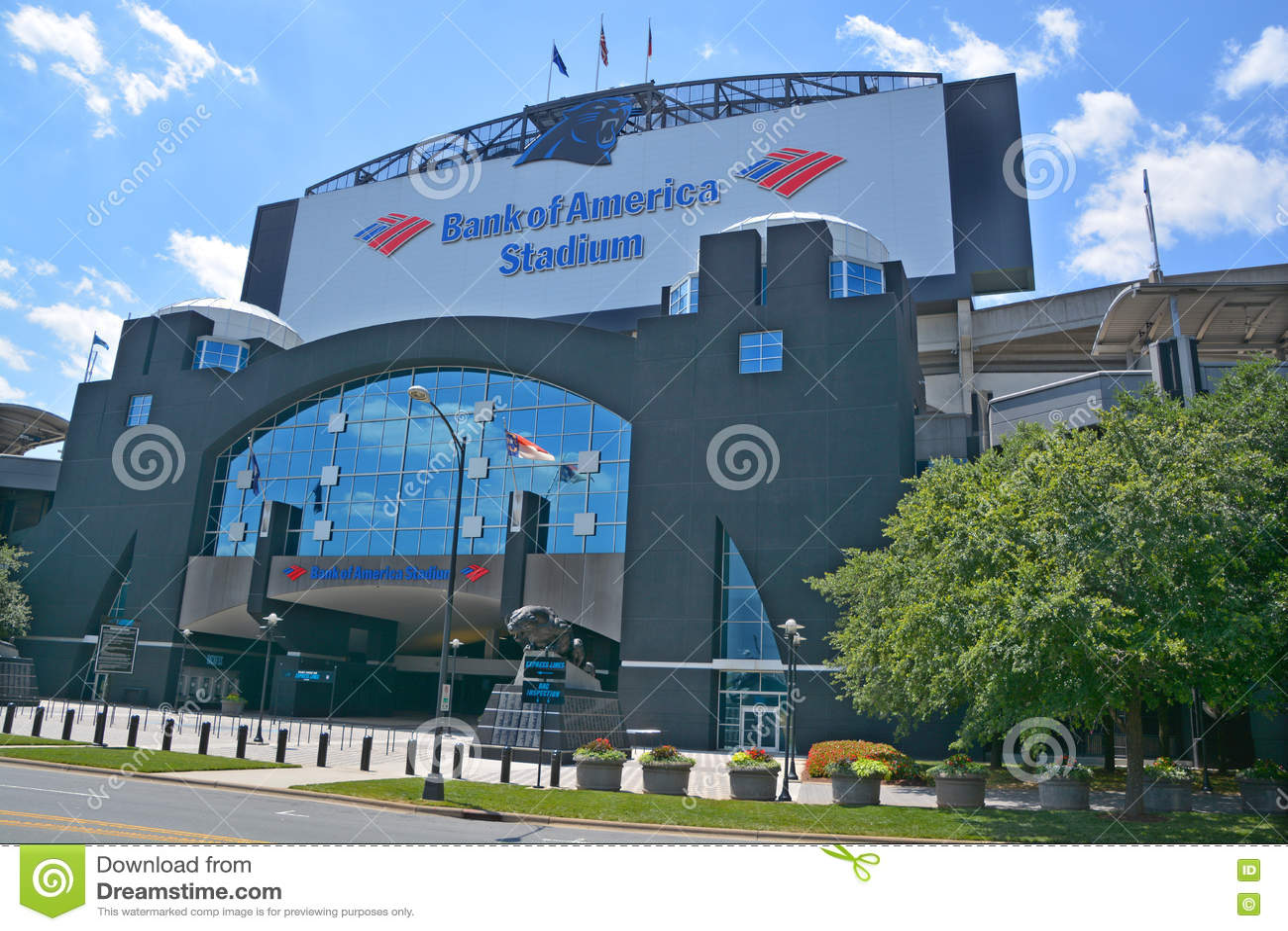 Bank of America Stadium editorial stock photo. Image of headquarters  supplier
