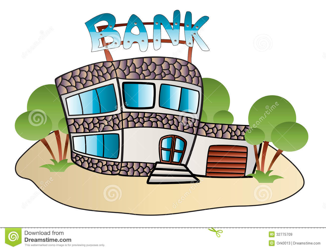Bank Building Stock Vector. Image Of Front, Concepts