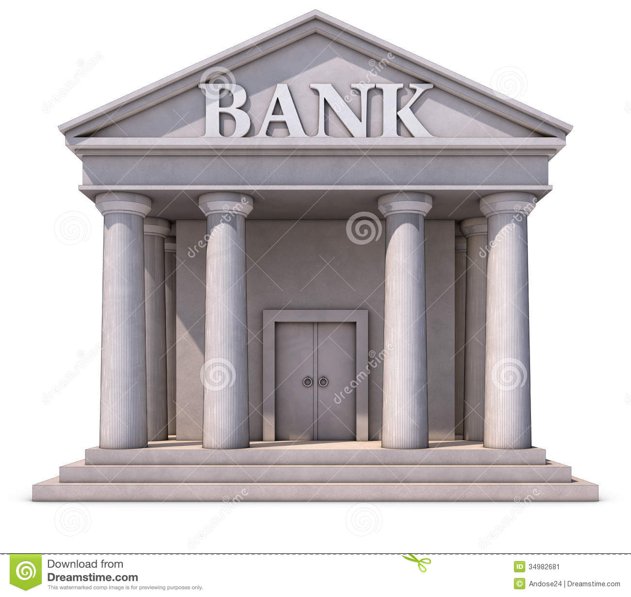 Bank Building Stock Image Image 34982681
