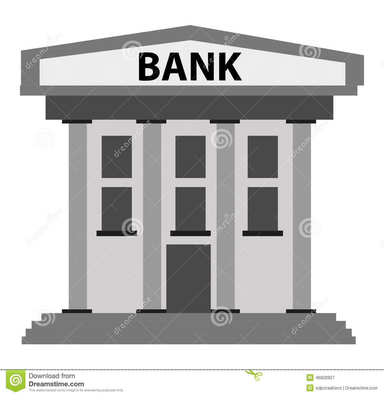 Bank building stock vector illustration of icon finance for Bank designs architecture