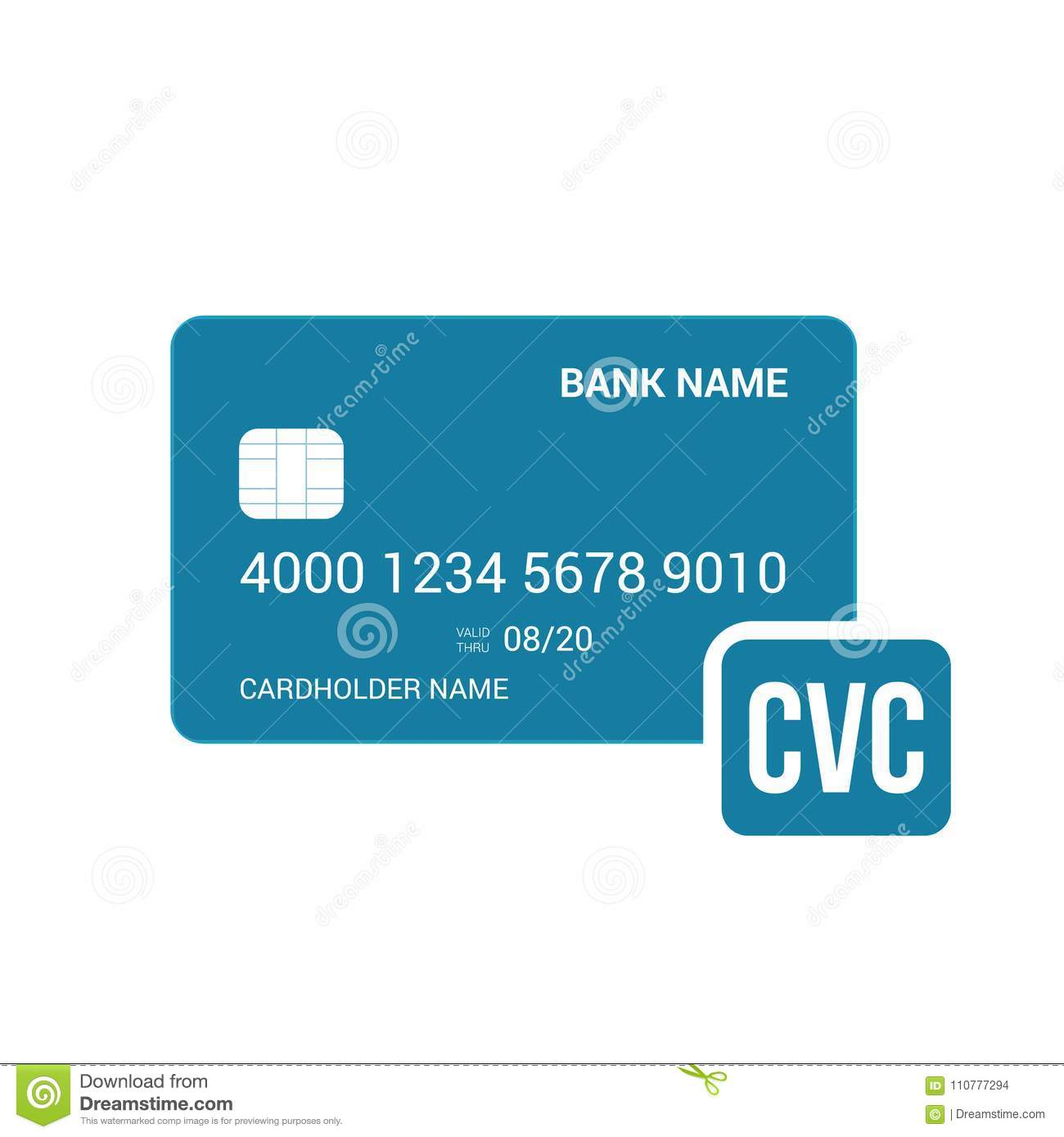 Bank Card Cvc Security Icon Stock Vector - Illustration of business