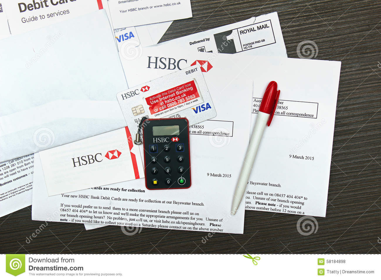 Bank card editorial stock photo  Image of finance, card