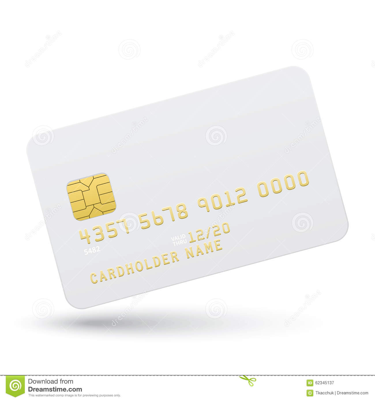 Bank Card On A White Background Stock Vector ...