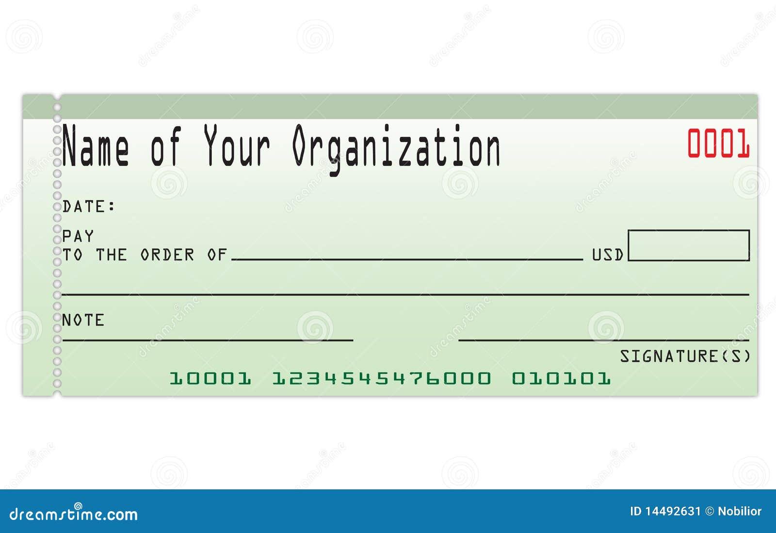bank check stock image