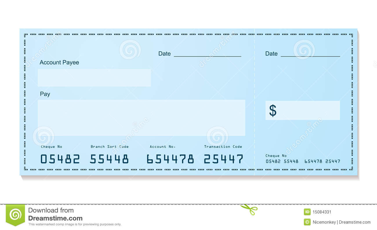 Bank Cheque Old Style ...