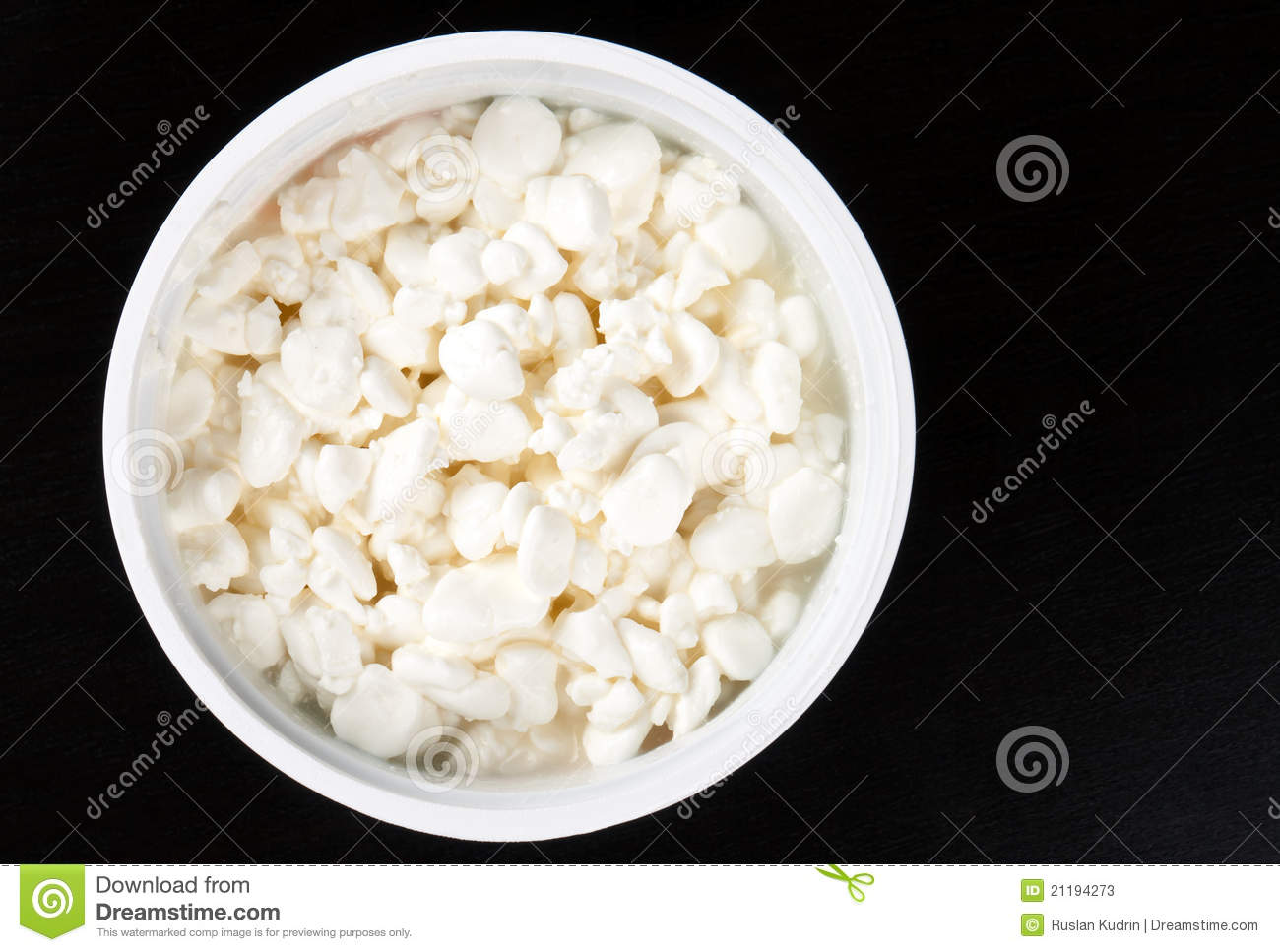 Bank of cottage cheese
