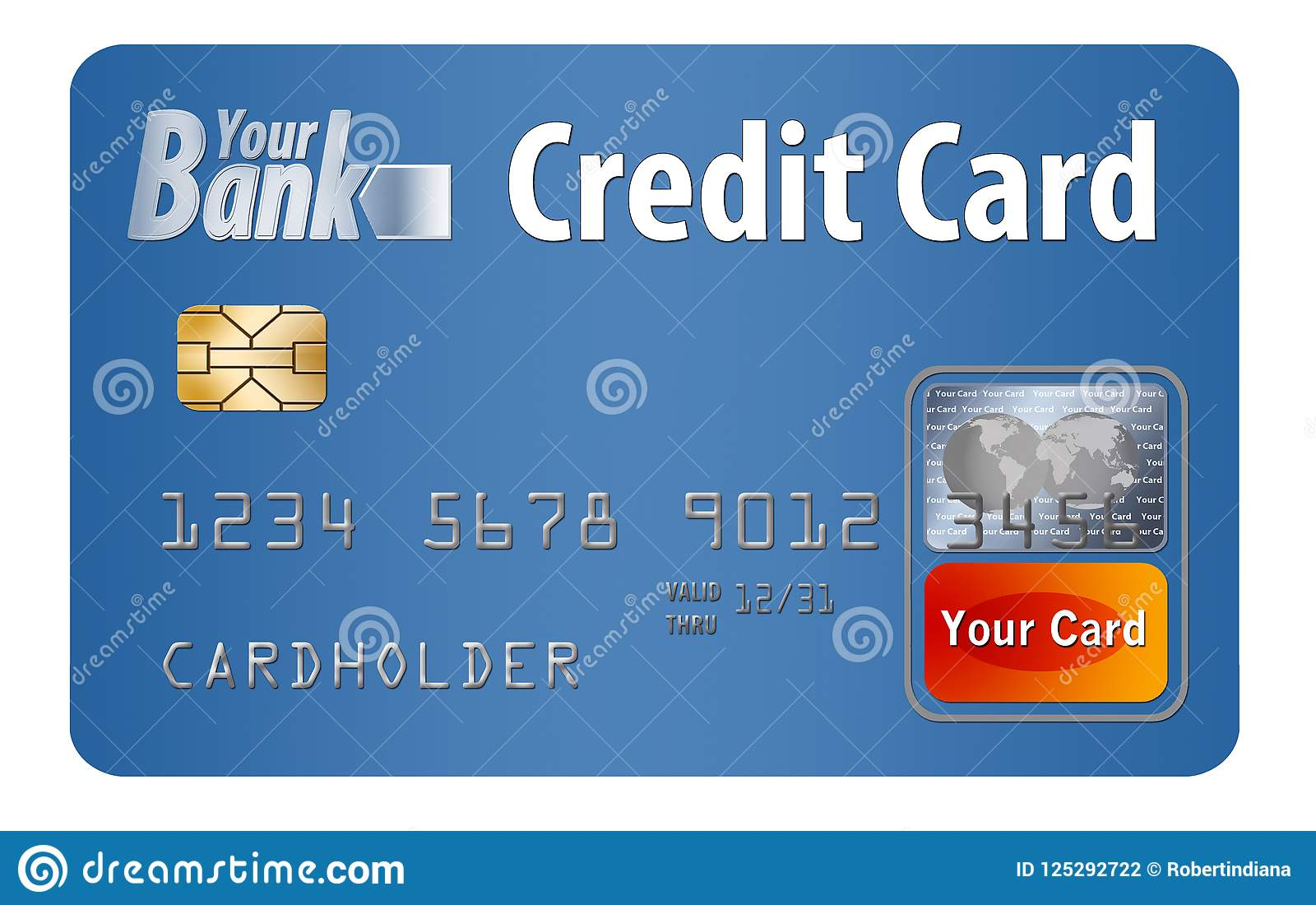 This Is A Credit Card It Is An Illustration With Generic