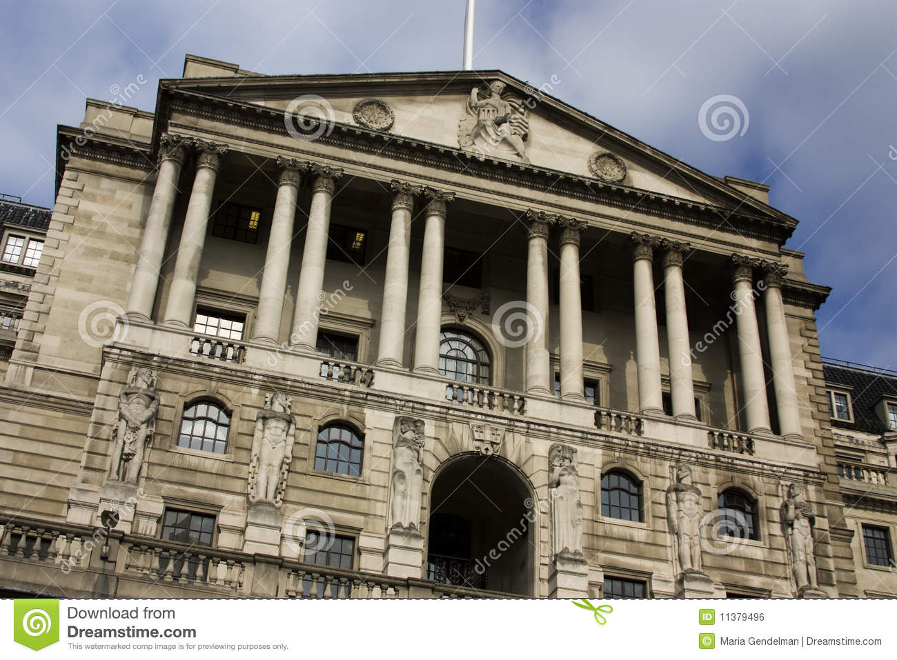 bank of england building royalty free stock image