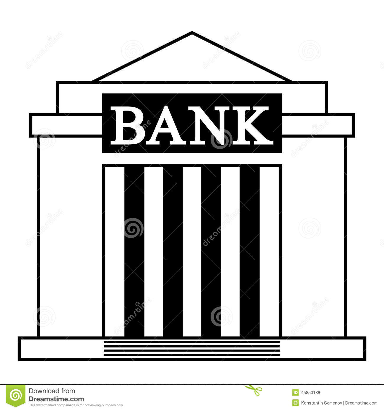 Bank icon stock vector. Illustration of depository ...