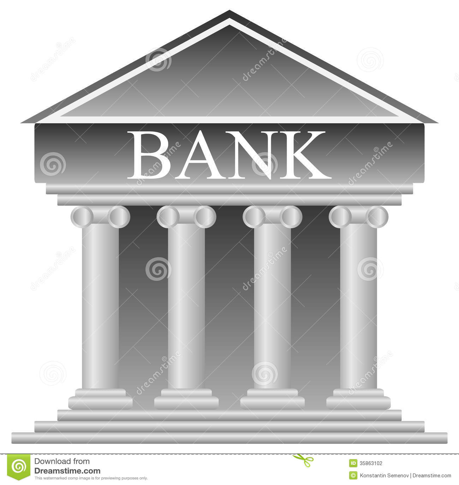 Bank Icon Stock Photog...