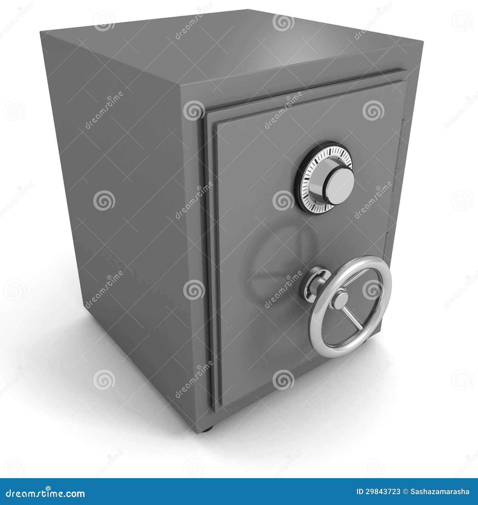 bank money metallic safe on white stock photos image