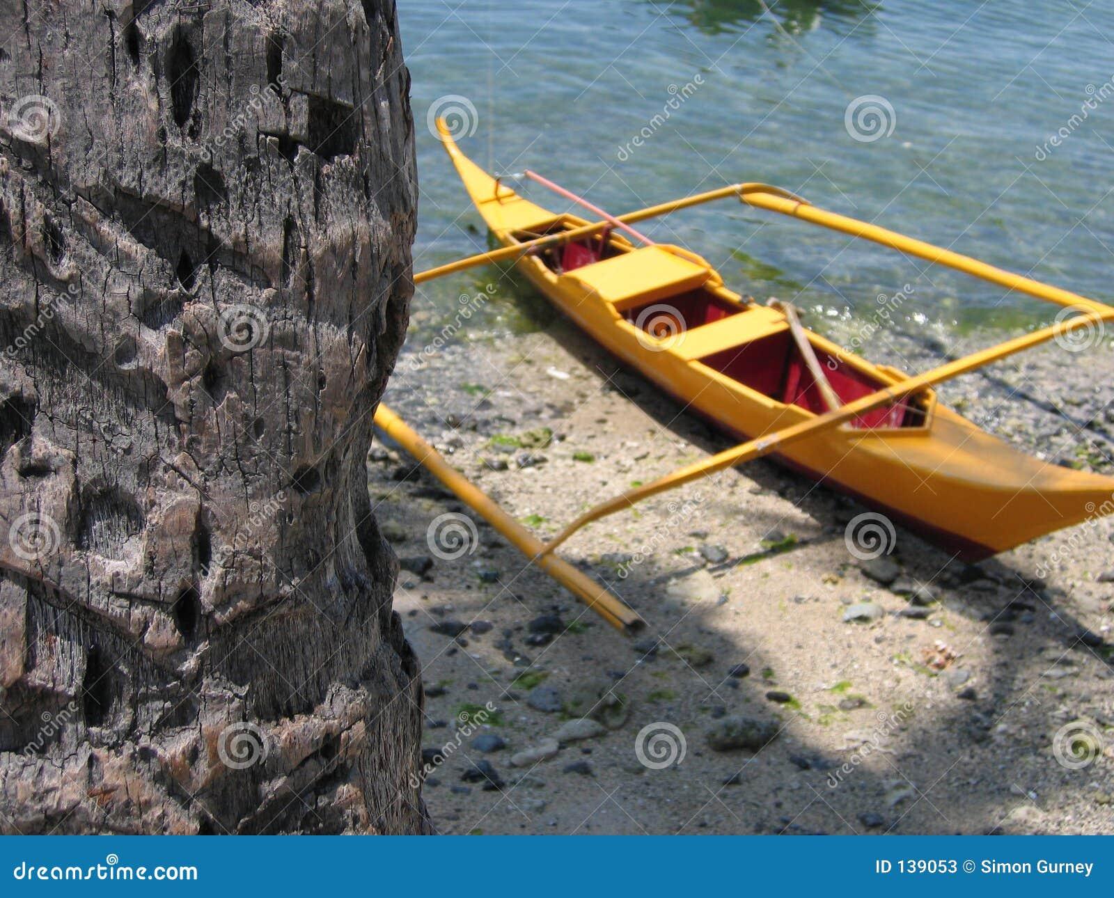 Bank odsadni drzewka palmowego kajakowy żółty