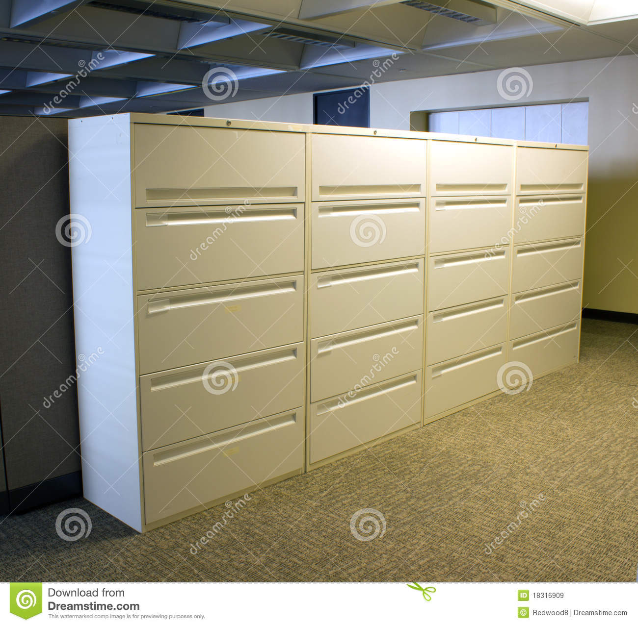 Bank Of Office File Cabinets Royalty Free Stock Images Image