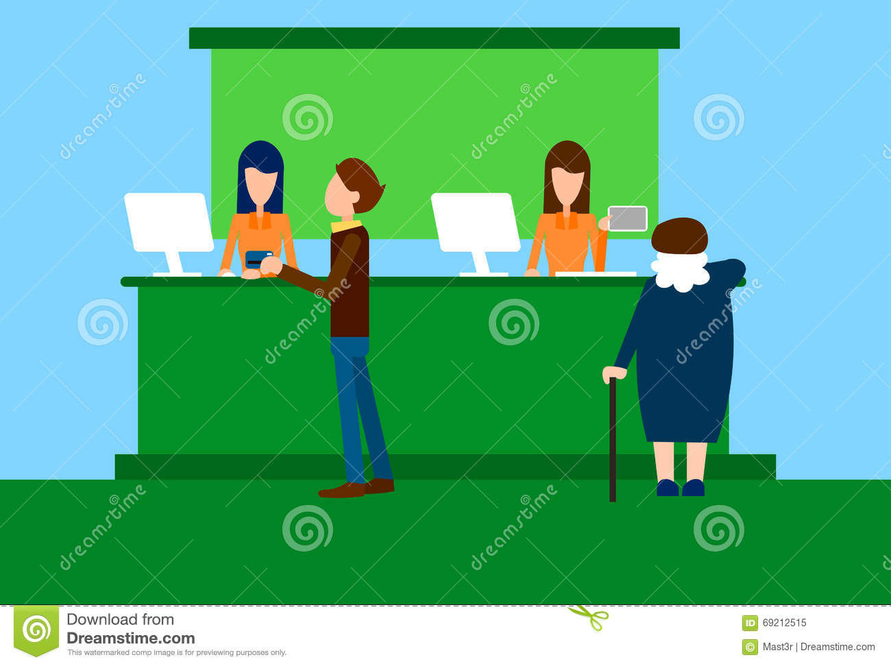 Businesswoman At Work With Senior Client Royalty Free