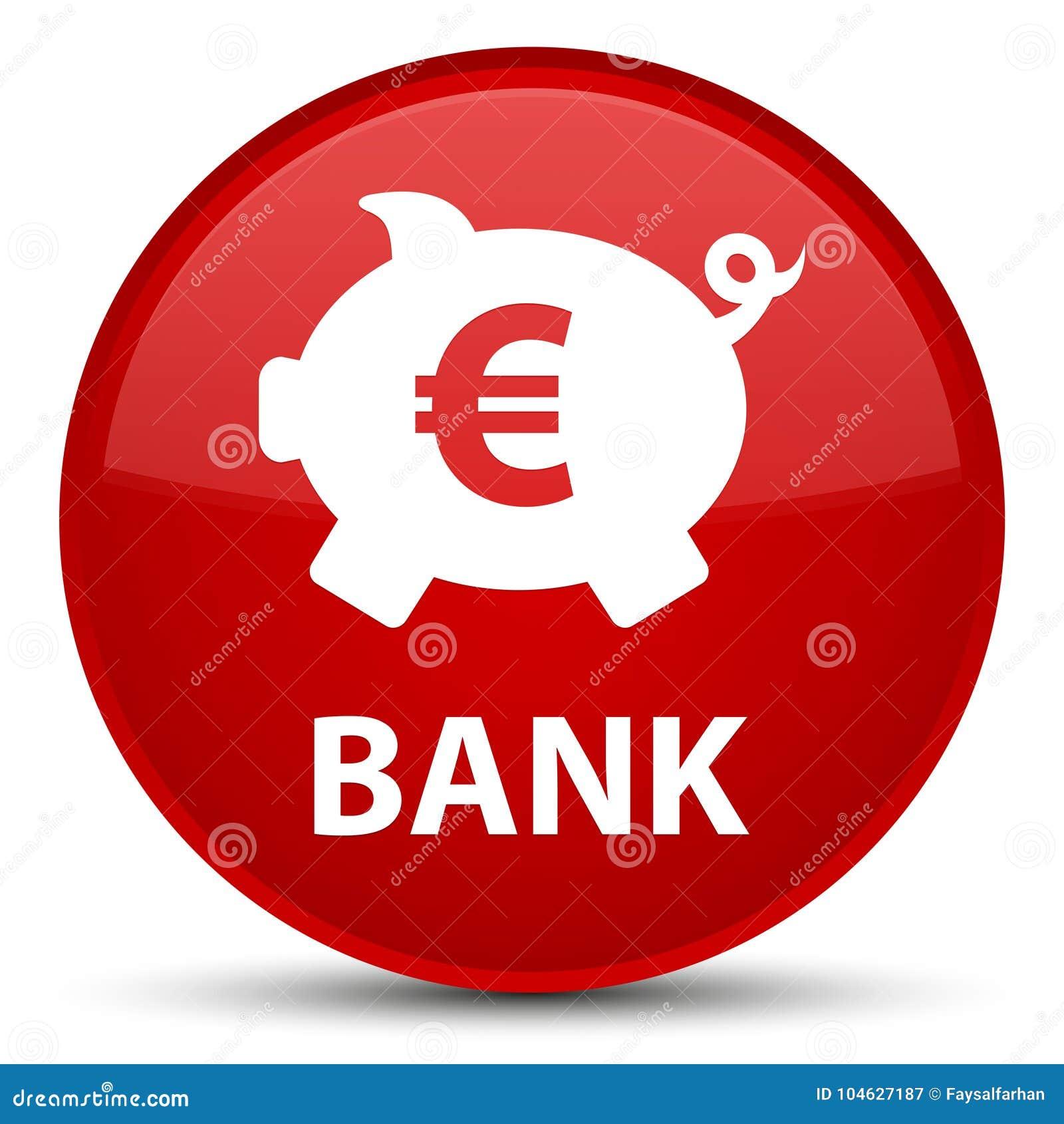 Download Bank (piggy Doos Euro Teken) Speciale Rode Ronde Knoop Stock Illustratie - Illustratie bestaande uit financiën, bank: 104627187