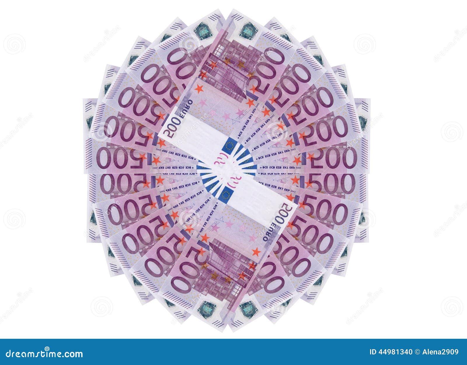 Bank repet för anmärkningen för pengar för fokus hundra för euroeuros fem