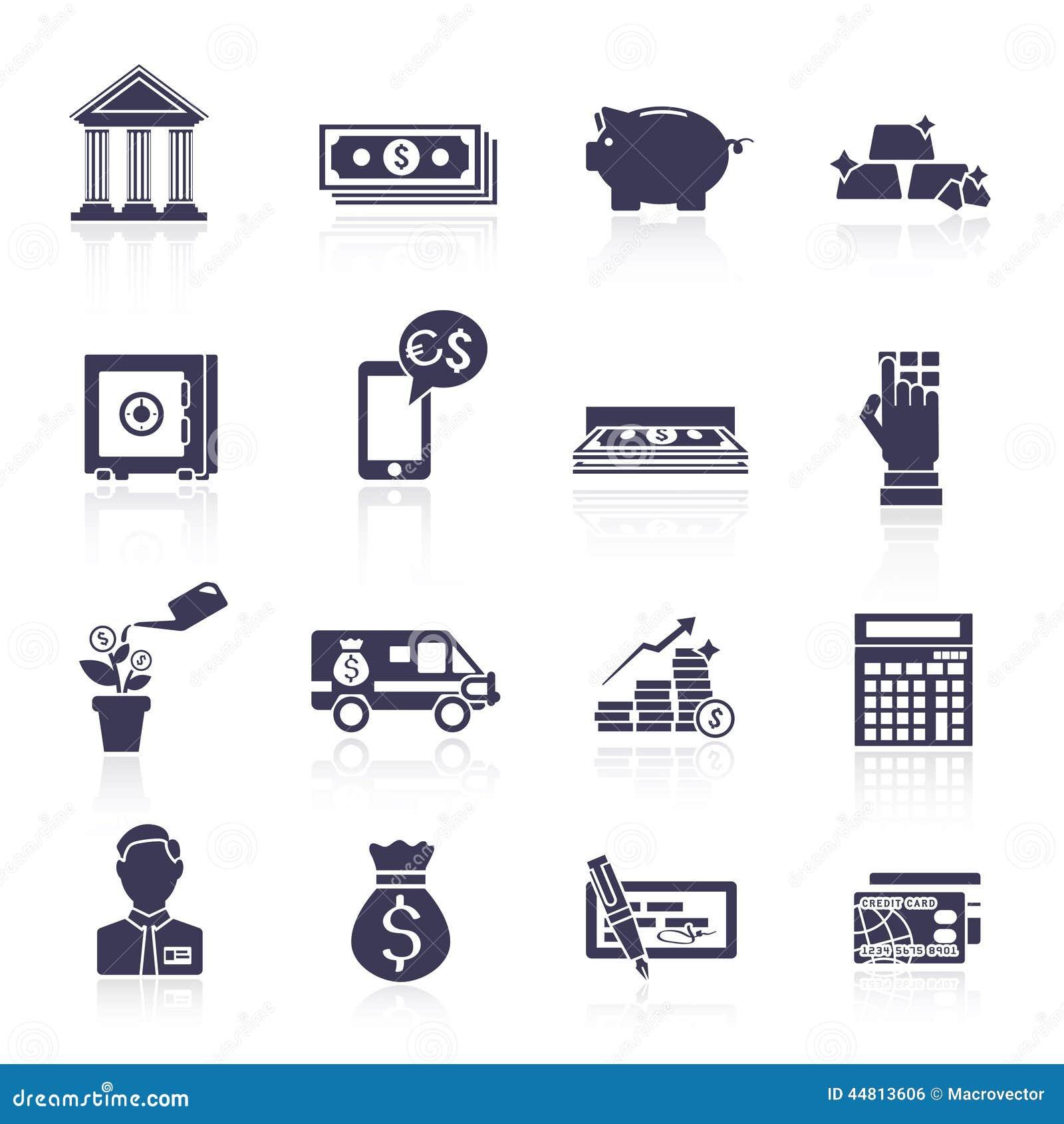 Bank Icons Set Stock Photography | CartoonDealer.com #42496358